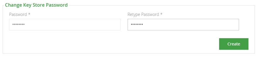 Changing the keystore password