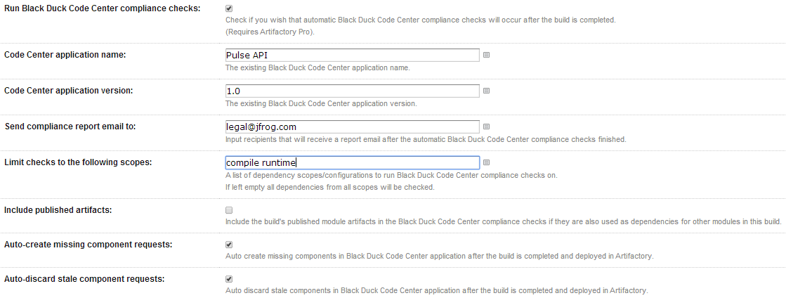 Black Duck Code Center Integration