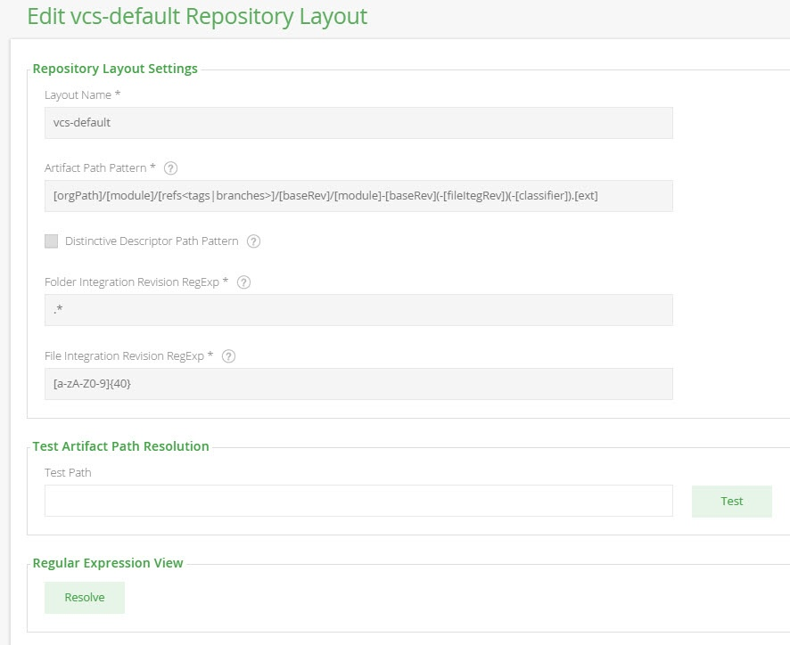 VCS Repository Layout