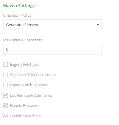 Remote Maven Repository Settings