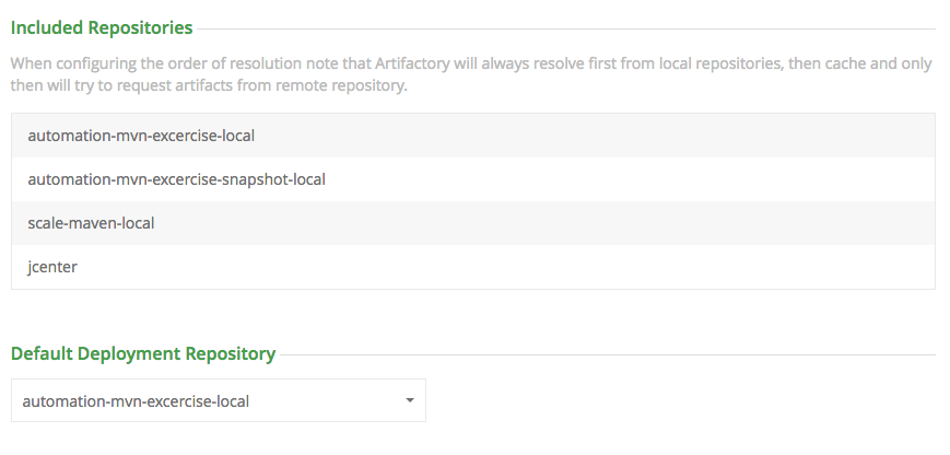 Deploying to a virtual repository