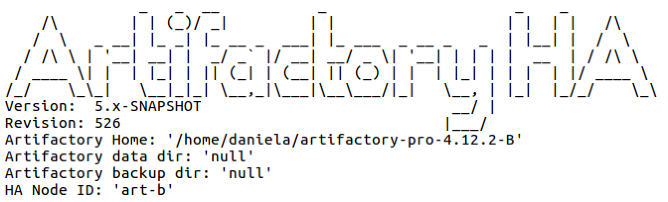 Artifactory HA Log File