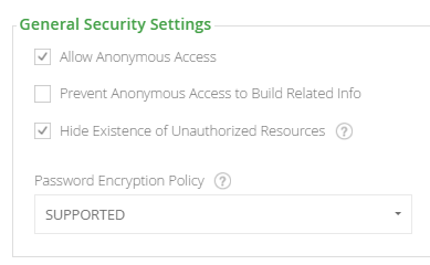 General Security Settings