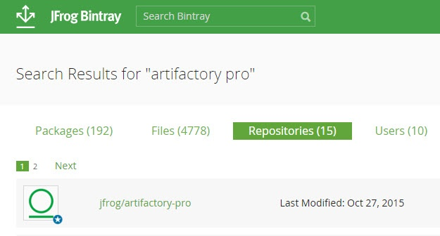 Downloading - Bintray - JFrog Wiki