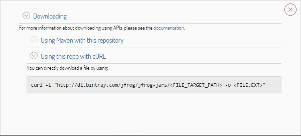 Download Using APIs - Bintray - JFrog Wiki