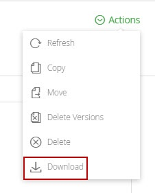 Folder download