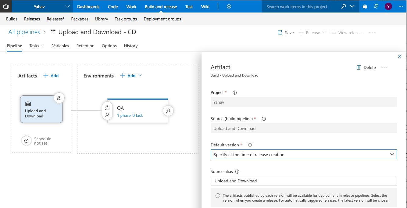 Azure DevOps and TFS Artifactory Extension - JFrog