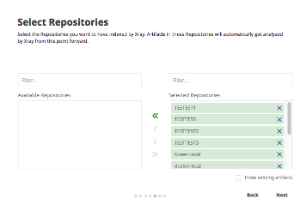 Onboarding - Select repositories