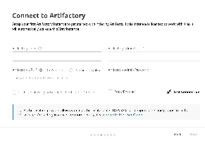Connect to Artifactory