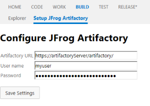 Setting up an Artifactory instance