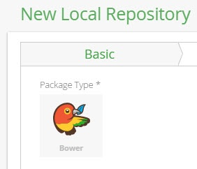 New Bower local repository