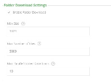 Folder download settings