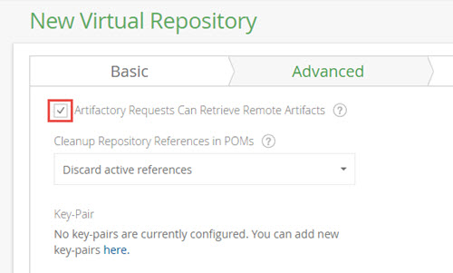 Virtual repository setting